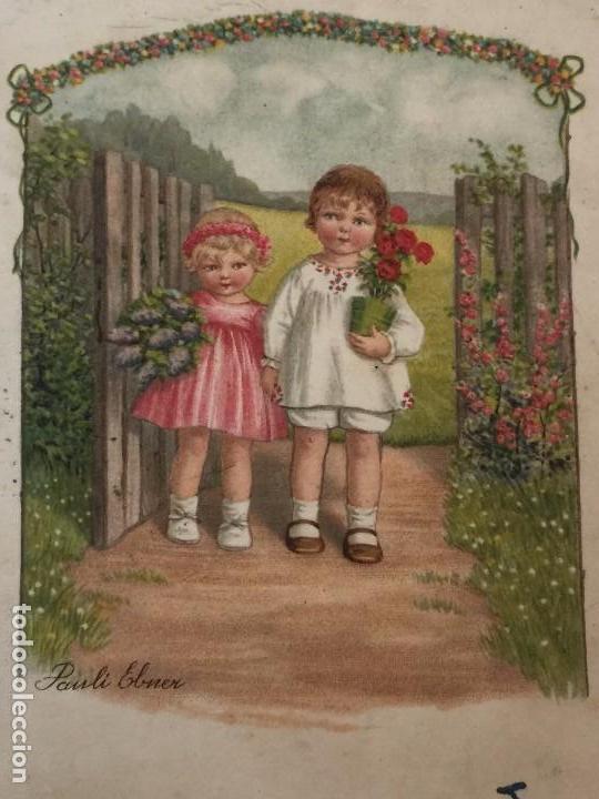 Postales: POSTAL AÑO 1937 INFANTIL CON SELLO CENSURA (REPUBLICA ESPAÑOLA) DIBUJO PAULI EBNER - Foto 2 - 97810699