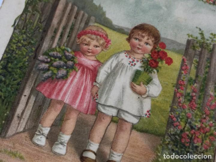 Postales: POSTAL AÑO 1937 INFANTIL CON SELLO CENSURA (REPUBLICA ESPAÑOLA) DIBUJO PAULI EBNER - Foto 6 - 97810699
