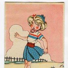 Postales: POSTAL ILUSTRADA ( NIÑOS ) MARIA CLARET COLECCION MARI PEPA LIT. VDA VALVERDE SAN SEBASTIAN. ESCRITA. Lote 98168171