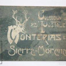 Postales: TACO / COLECCIÓN DE 25 POSTALES ILUSTRADAS - MONTERÍAS EN SIERRA MORENA, S.M. EL REY ALFONSO XIII. Lote 98213291