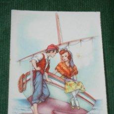 Postales: ANTIGUA POSTAL - UNA NOIA GENTIL Y UN PESCADOR.... CYZ 813 - ESCRITA 1956. Lote 98573527