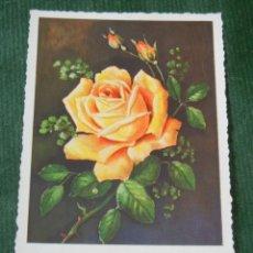 Postales: ANTIGUA POSTAL ROSA AMARILLA - AFKH - ESCRITA EN 1957. Lote 98574547