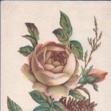Postales: POSTAL DIBUJO ROSA AMARILLA - CIRCULADA1908. Lote 98583131