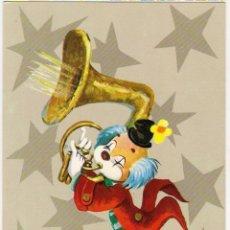 Postales: -58315 POSTAL DIBUJO PAYASO MUSICO, EDICIONES C. Y Z. Nº 7468/31-A, BARCELONA. Lote 98687435