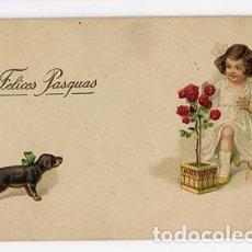 Postales: POSTAL ILUSTRADA, NIÑOS. FELICITACIÓN. ED. AMAG. ESCRITA. Lote 98696787