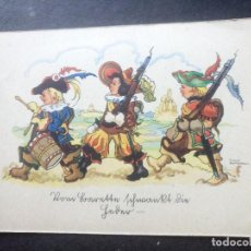 Postales: POSTAL MOSQUETEROS ALEMANA PAUL MEYER BREMEN ALEMANIA. Lote 99103839
