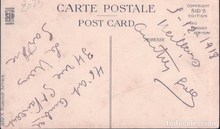 Postales: POSTAL DIBUJO CARICATURA NIÑO SOLDADO - FIRMADA S GIBSON . N 6002 HUMOR SERIES - Foto 2 - 99790087