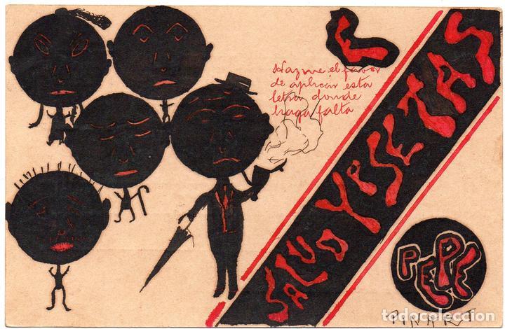 PS7757 POSTAL CARICATURESCA ILUSTRADA POR PEPE PINART. BARCELONA. PRINC. S. XX (Postales - Dibujos y Caricaturas)