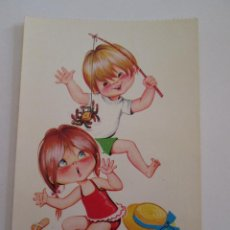 Postales: POSTAL PAREJA NIÑOS - BERGAS 1966 - PAREJAS INFANTILES - ESCRITA. Lote 100737831