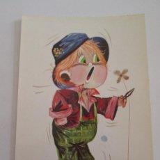 Postales: POSTAL NIÑO - PIEDRABUENA - BERGAS 1972 - ESCRITA. Lote 100738063