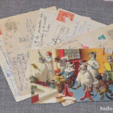 Postales: VINTAGE - LOTE DE 6 POSTALES CIRCULADAS - AÑOS 60 - MOTIVO GATOS / FABULAS ANIMALES - ¡¡PRECIOSAS!!. Lote 210562657