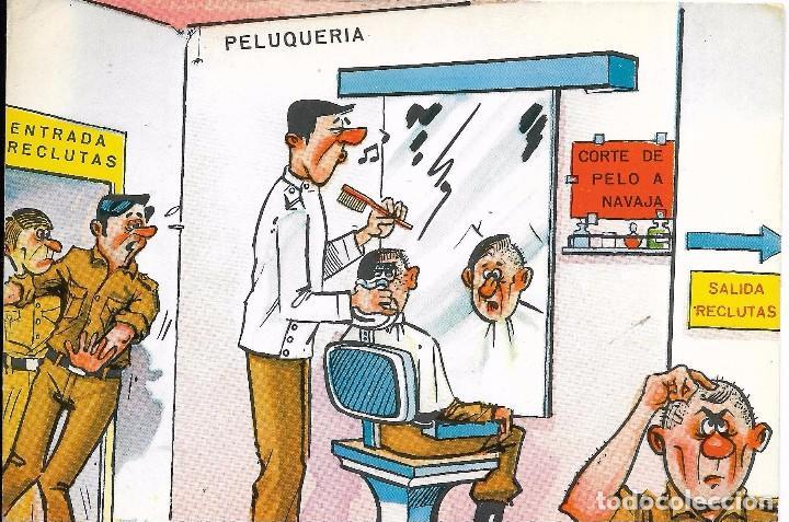 == A1401 - POSTAL - PELUQUERIA DE RECLUTAS (Postales - Dibujos y Caricaturas)