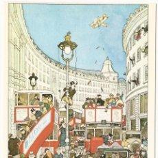 Postales: POSTAL SATIRICA THE SPIRIT OF CHRISTMAS IN REGENT STREET LONDRES WILLIAM HEATH ROBINSON 1872-1944. Lote 101539507