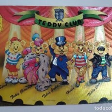 Postales: POSTAL METALIZADA VINTAGE DUFEX * TEDDY CLUB * NO CIRCULADA 1988. Lote 101754567