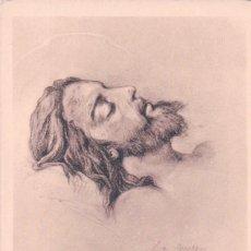 Postales: POSTAL DIBUJO JESUS - FIRMADA POR H LAZERGES - CHEMIN DE CROIX. Lote 102431839
