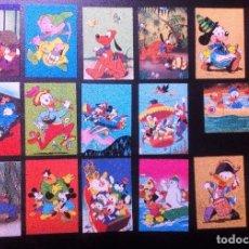 Postales: WALT DISNEY PRODUCTIONS LOTE DE 17 POSTALES ORIGINALES SIN CIRCULAR.BIONDETTI (ITALIE) VER FOTOS. Lote 103252567