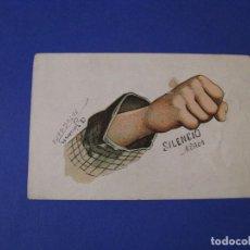 Postales: ANTIGUA POSTAL. DIBUJO, CARICATURA. SILENCIO NIÑOS. SIN CIRCULAR.. Lote 103331847