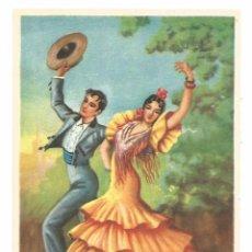 Postales: BAILE FLAMENCO FOLKLORE SEVILLANAS - EDICIÓN ESTAMPERIA RAM - POSTAL. Lote 103669935