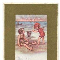 Postales: POSTAL ILUSTRADA E. COLOMBO ( NIÑOS ) ESCRITA. Lote 103715539