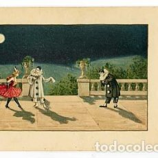 Postales: POSTAL ILUSTRADA ( BAILARINA Y PIERROTS) . M.M. VIENNE. ESCRITA. Lote 103716771