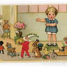 Postales: POSTAL ILUSTRADA ( NIÑOS ) ED. AGB. ESCRITA. Lote 103718011
