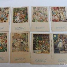 Postales: 8 POSTALES COLECCION BLANCA NIEVES, EDICIONES DE ARTE IKON, BARCELONA. Lote 106082135