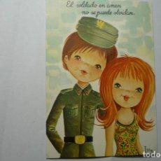 Postales: POSTAL HUMOR PAREJA SOLDADO -DIBUJO ILLA . Lote 107332327