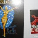 Postales: POSTAL Y PEGATINA LOTE SALA FIESTAS EL MOLINO -BARCELONA . Lote 165714802