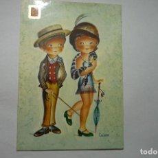 Postales: POSTAL PAREJA DIBUJO CASTAÑER -ESCRITA. Lote 107848195