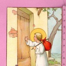 Postales: POSTAL DIBUJOS NIÑO JESUS LLAMANDO A UNA PUERTA EDITO NB ESCRITA EL AÑO 1940 . Lote 108778043