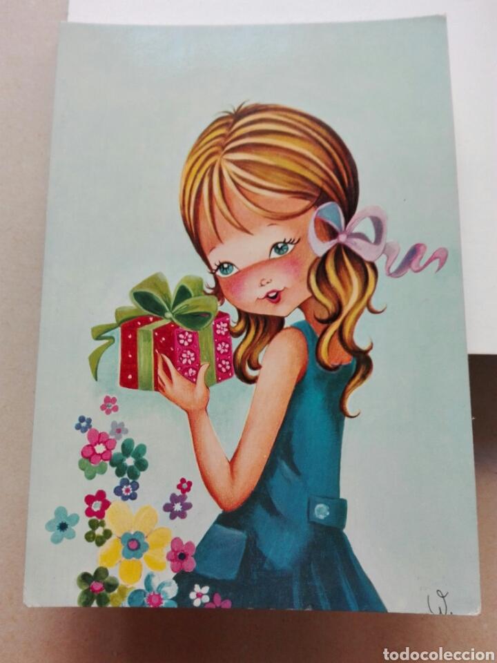 NIÑA EDICIONES SAVIR 6073 BARCELONA (Postales - Dibujos y Caricaturas)