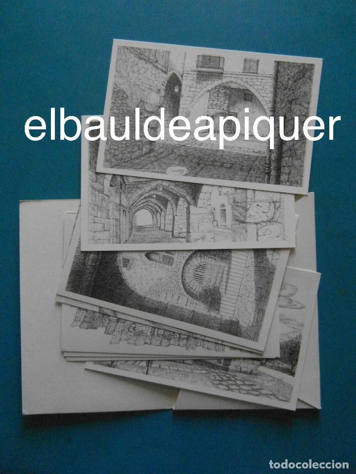 8 TARJETAS POSTALES. MOTIUS TARRAGONINS. TARRAGONA. DIBUJOS DE CAMARASA. 1991. EDICIONS MINERVA (Postales - Dibujos y Caricaturas)