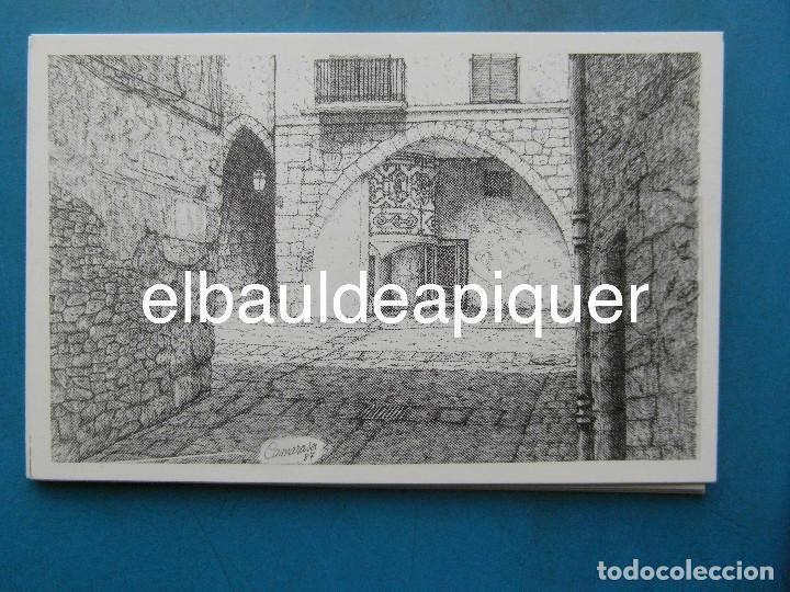 Postales: 8 Tarjetas postales. Motius Tarragonins. Tarragona. Dibujos de Camarasa. 1991. Edicions Minerva - Foto 3 - 110461275