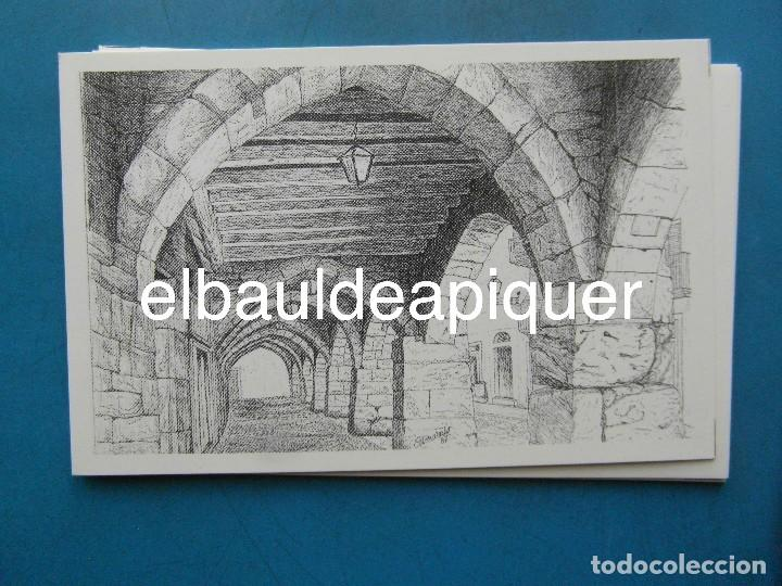 Postales: 8 Tarjetas postales. Motius Tarragonins. Tarragona. Dibujos de Camarasa. 1991. Edicions Minerva - Foto 5 - 110461275