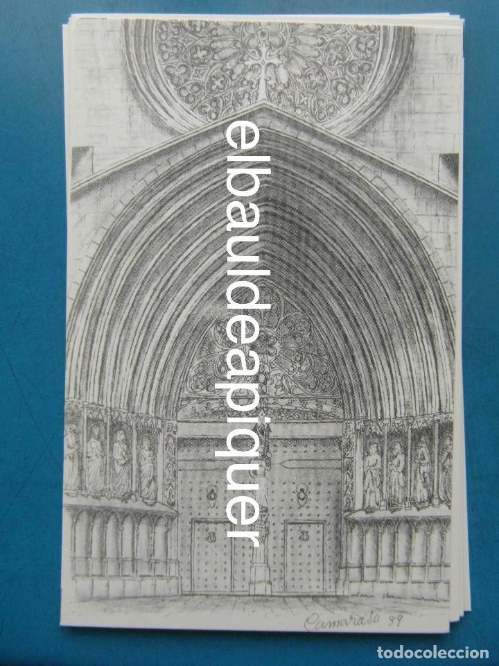 Postales: 8 Tarjetas postales. Motius Tarragonins. Tarragona. Dibujos de Camarasa. 1991. Edicions Minerva - Foto 7 - 110461275