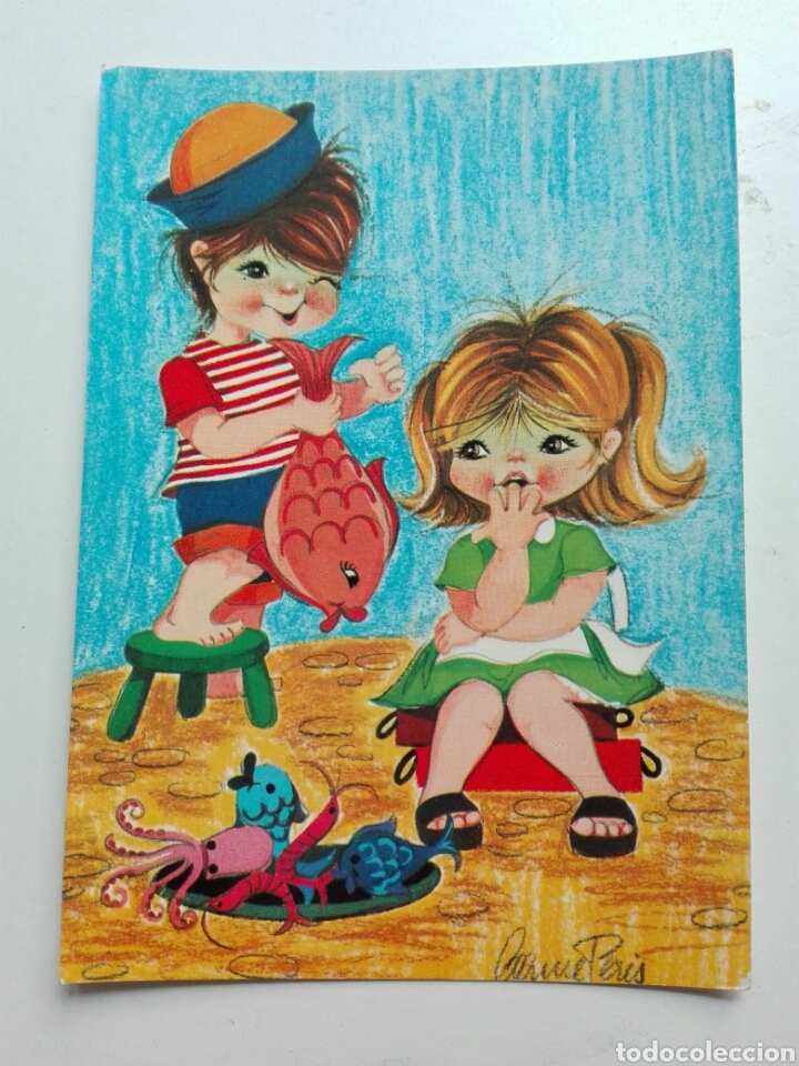 Niños En La Playa Colección Perla Comprar Postales Antiguas De