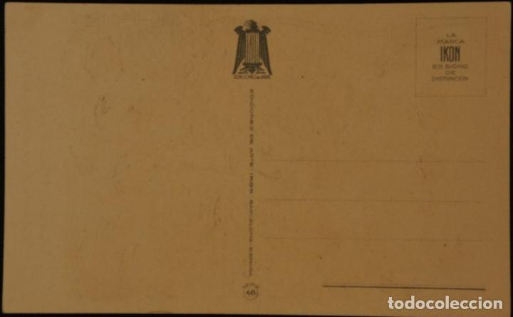 Postales: Postal sin circular de Ediciones de Arte IKON; Barcelona. Serie 46. Años 40 - Foto 2 - 110832787