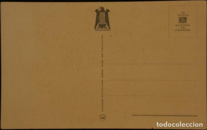 Postales: Postal sin circular de Ediciones de Arte IKON; Barcelona. Serie 46. Años 40 - Foto 2 - 110832899