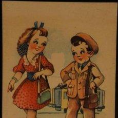 Postales: POSTAL SIN CIRCULAR DE EDICIONES TRIO; SERIE F. AÑOS 40. Lote 110833479