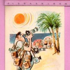 Postales: POSTAL DE MALLORCA TURISMO Y DIBUJO CASA TORECO CIRCULADA AÑO 1966. Lote 110898627
