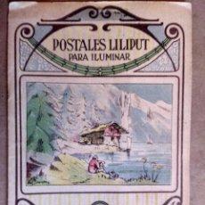 Postales: RARO LIBRILLO CON POSTALES LILIPUT PARA ILUMINAR. EDITOR MIGUEL SALVATELLA, BARCELONA. Lote 110904243