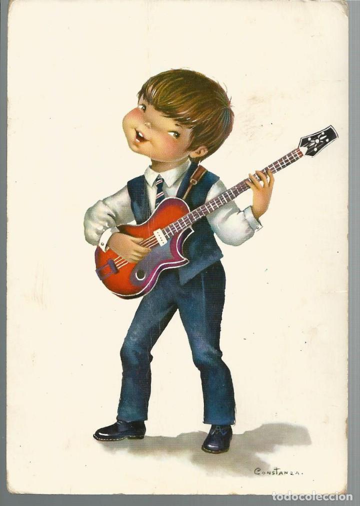 POSTAL CONSTANZA *EL GUITARRISTA* - EDIC. CYZ - 1965 (Postales - Dibujos y Caricaturas)