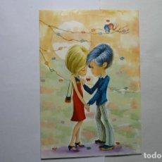 Postales: POSTAL PAREJA ENAMORADOS -DIBUJO LORIA -ESCRITA. Lote 111428259