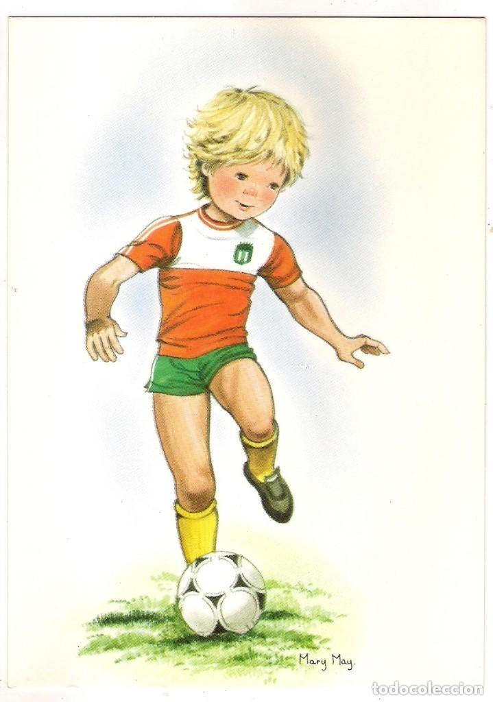 67272 Postal Dibujo Nino Jugando Al Futbol Il Comprar Postales