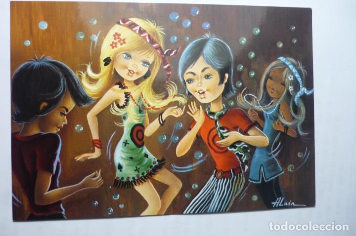 POSTAL BAILARINES .-DIBUJO ALAIN-ESCRITA (Postales - Dibujos y Caricaturas)
