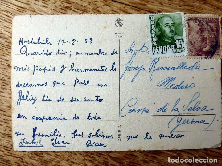 Postales: ediciones trio serie A circulada 1953 - Foto 2 - 112534679