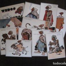 Postales: COLECCON 10 POSTALES CON CARPETA-TIPOS MOROS-ILUSTRADOR TORRRES-POSTAL EXPRES-VER REVERSO - (51.889). Lote 112553839