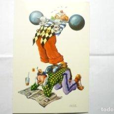 Postales: POSTAL HUMOR PAYASOS - DIBUJO CASAMITJANA. Lote 114094851