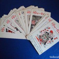 Postales: (PS-55301)COLECCIÓN DE 20 POSTALES CON PORTADAS DE LA REVISTA SATÍRICA ¡CU-CUT! (BARCELONA) - 1902. Lote 114156019