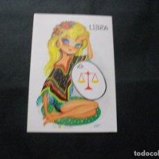 Cartes Postales: PRECIOSA POSTAL DE HOROSCOPO LIBRA LA DE LA FOTO VER TODAS MIS POSTALES. Lote 115549631